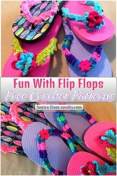 Crochet Shoes, Crochet Slippers, Crochet Bags, Crochet Flip Flops, Easy Crochet Projects, Crochet Ideas, Crochet Classes, This Girl Can, Flip Flop Slippers