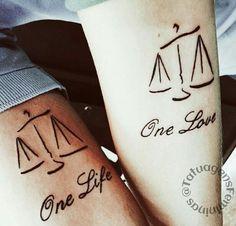 Tattoo balança equilíbrio