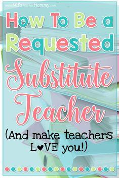 Substitute Teacher Bag, Subsitute Teacher, Substitute Folder, Relief Teacher, Teacher Survival, Teaching Jobs, Teaching Ideas, Teaching Time, Teachers Aide
