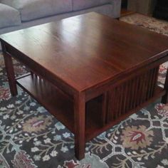 Mission-Style Coffee Table Woodworking Plan by Tobacco Road Guitars
