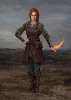 Young Sorceress Celestra by Dmitry Tsarev : ReasonableFantasy