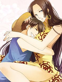 Luffy and Hancok shared by HebiHime on We Heart It