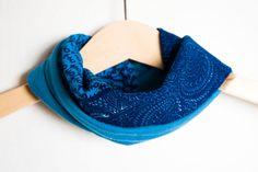 Baby scarf bib. Infinity scarf look. Stylish drooler bib in African/Ankara Fabric. Batik print 100% cotton. Baby and Toddler