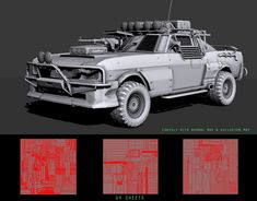 ArtStation - Apocalyptic Vehicle(Ford Mustang), safeer abbas