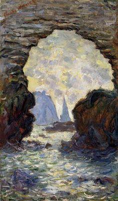 The Rock Needle Seen through the Porte d'Aumont 1885 Claude Monet