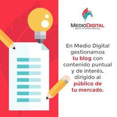 En Medio Digital somos tu mejor opción en contenido. #Contenido #RedesSociales #Marketing #MedioDigital