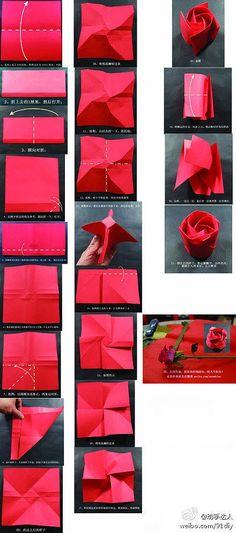 Origami Single Sheet Rose