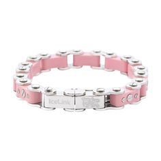 IceLink Pink Bicycle Link Thick Bracelet - IceLink Watches & Jewelry