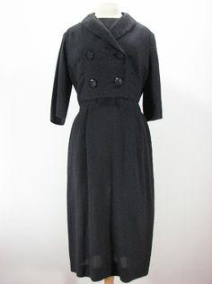 Vintage 50s Black Dress and Jacket