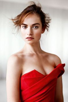Lily James for InStyle UK January 2015 - Vivienne Westwood Gold Label