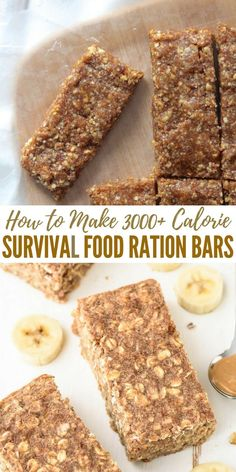 How to Make 3000+ Calorie Survival Food Ration Bars - Having a small bar with this many calories is a fantastic idea. These are light weight and can see you through weeks of no food if you find yourself in an emergency!