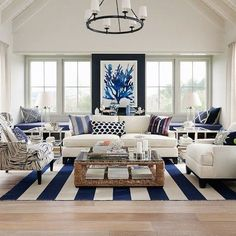 Are you planning on redecorating or redesigning your living room? If so, what kind of style that you want to adopt for your new living room design? Well, you should consider to have coastal living room design. Until now, this… Continue Reading → Beach House Interior, Family Room, Living Room Decor Inspiration, Living Room Designs, Coastal Style Living Room, Living Decor, Living Room Furniture, Luxury Homes, Luxury Interior Design