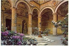 Beautiful courtyard in the Palazzo Vecchio - Florence