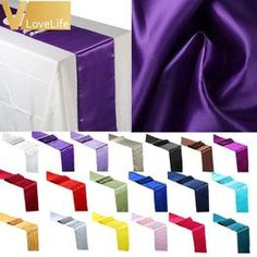 Satin Table Runner x For Wedding Party Event Banquet Home Table Decoration Supply Table Cover Tablecloth Accessories Banquet Table Decorations, Banquet Tables, Decoration Table, Wedding Decorations, Centerpiece Ideas, Cheap Tablecloths, Wedding Tablecloths, Table Runner Size, Table Runners