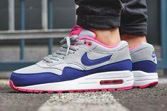 Nike Air Max 1 Essential Gris/Bleu/Rose (femme) - http://sorihe.com/mensshoes/2018/03/05/nike-air-max-1-essential-gris-bleu-rose-femme/