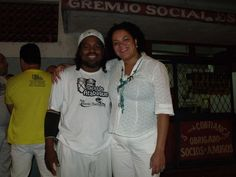 Flávia Pinto e Ogã Márcio Barravento no tradicional Festival de Cantigas de Zé Carlos D'Oxosse