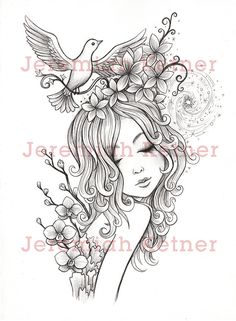 Spirals, Ink on paper, 11 x 14 inches ©Jeremiah Ketner. Available as a Digital Stamp by smallandround on Etsy.