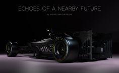 Echoes of a Nearby Future Part Deux : Futuristic Formula 1 Concept Car Formula 1 Car, Conceptual Art, Red Bull, Concept Cars, Futuristic, Van, Racing, Future, Behance