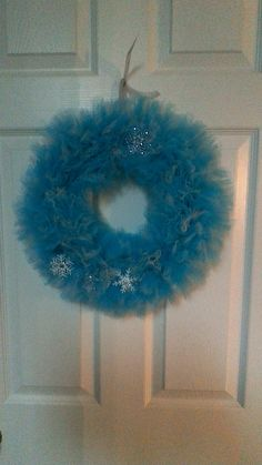Frozen-themed Tulle Wreath by TutuChicWreaths on Etsy