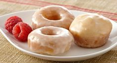 Mini Baked Donuts with Raspberry Glaze: Baked donuts are so much easier to make than the fried variety. These bite-size treats are tossed in a fruity raspberry glaze.