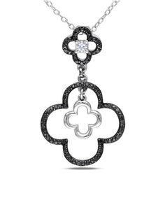 Sterling Silver & White Diamond Pendant Necklace #zulily #zulilyfinds