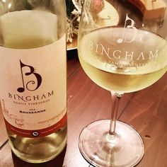 """This evening's #wine, a lovely #roussanne, is a mighty fine #txwine from #BinghamFamilyVineyards. I've really grown to enjoy this varietal as my first…"""