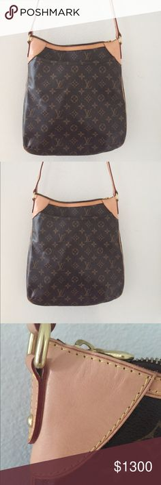 Louis Vuitton Odeon MM Authentic LOUIS VUITTON Monogram Odeon MM. Monogram coated canvas with a flat exterior pocket. Adjustable vachetta cowhide leather shoulder strap with brass links.  Top zipper opens to a cocoa brown fabric interior with mobile phone and patch pockets. Excellent messenger bag for everyday essentials and travel! Though Louis Vuitton retired the MM in 2012, this size is still in high demand.  Price is fair due to immaculate condition.  I'm interested in selling, not…