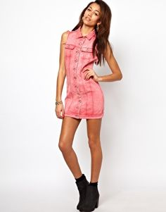 Image 4 of Motel Amelia Denim Dress