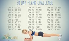 30 day plank challenge - Project Natural Beauty