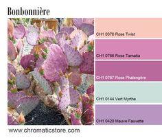 Cette association tendance de corail, roses lumineux et mauve et vert d'eau se mariera parfaitement avec le charme d'une décoration romantique. www.chromaticstore.com #deco #mauve #harmonie