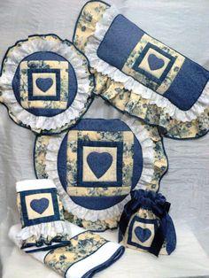 Bathroom Crafts, Bathroom Sets, Hanukkah, Ideas Para, Quilts, Country, Frame, Diy, Home Decor
