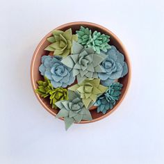 Large felt succulent arrangement by TheFeltFlowerShop on Etsy