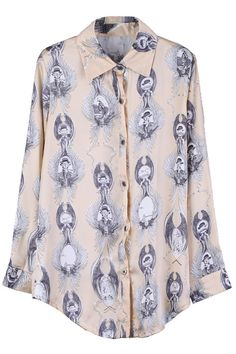 Multiple Painting Apricot Shirt