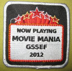 Girl Scout South East Florida 100th Anniversary Now Playing MOVIE MANIA SGSSEF 2012 patch. Seek and ye shall locate.
