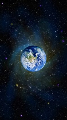 Earth with star's