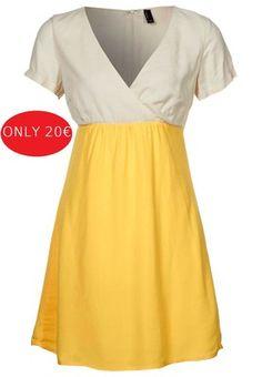 vestito giallo e bianco, vero moda. nuovo, mai indossato. taglia S. | eBay    http://cgi.ebay.it/ws/eBayISAPI.dll?ViewItem=170937159501#