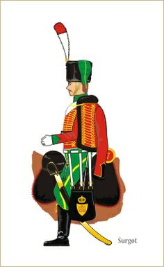 French hussar (trumpeter)