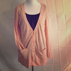 J. Crew size small extra light peach cardigan Boyfriend style size small j crew cardigan.  Super light and comfy.  It's a peach color and has not one imperfection.  Will fit a small or medium build. J. Crew Sweaters Cardigans