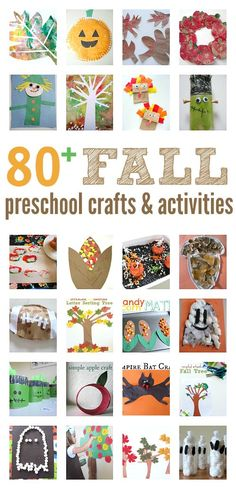 The BEST list of fall crafts and early learning ideas for preschool. Every theme from back to school until winter is included! There are book lists for fall themes too.