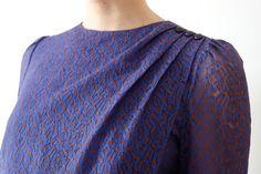Robe vintage japonais dentelle mauve par kamomeya sur Etsy