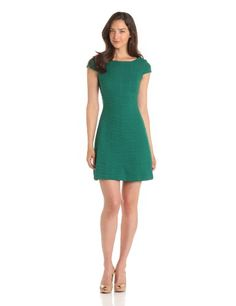 Taylor Dresses Women's Textured Knit Cap Sleeve Dress $85.76 (33% OFF) + Free Shipping