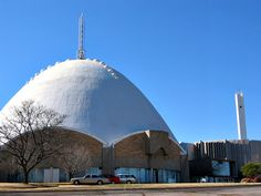 """""""Egg Church""""- First Christian Church #OKC #architecture this is down the road from me :)"""