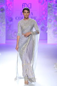 By designer Rahul Mishra. Bridelan - Personal shopper & style consultants for Indian/NRI weddings, website www.bridelan.com #Bridelan #weddinglehenga #RahulMishra #IndiaCoutureWeek2016