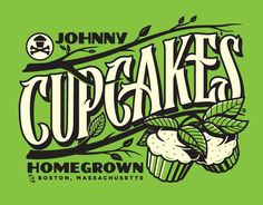 Lettering and illustration for Johnny Cupcakes in-store exclusive t-shirt. Summer 2013