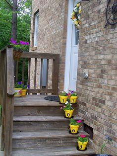Cute use of flower pots