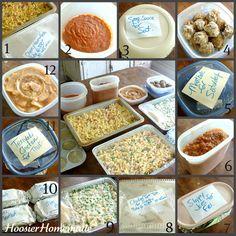 Tons of Make Ahead Meals {Cheesy Pasta, Spaghetti Sauce & Meatballs, Sloppy Joes, Chicken Tortellini Tetrazzini, Meatloaf, Teriyaki Chicken}