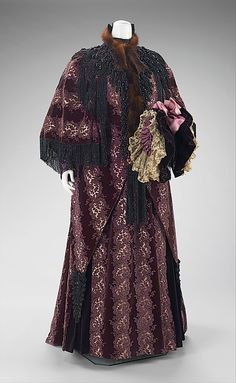 Ensemble: Outing Coat, House of Worth 1894, French, Made of silk, linen, and fur