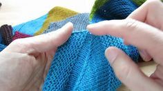 "Spine stitch for the ""Sleeves"" pattern by Martina Behm"