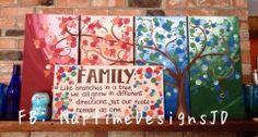 #fourseasonstree #familyquote #multicanvas #painting #ECMC see facebook page! #art