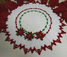 Gorgeous hand crocheted Christmas Doily